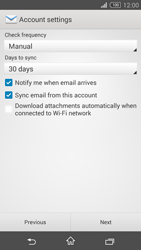 Sony Xperia Z3 Compact - E-mail - 032b. Email wizard - Yahoo - Step 8