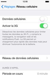 Apple iPhone 4S (iOS 8) - Internet et connexion - Désactiver la connexion Internet - Étape 5
