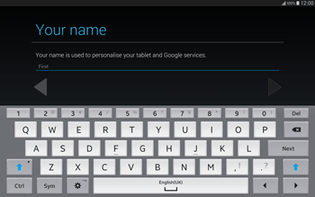 Samsung T805 Galaxy Tab S - Applications - Setting up the application store - Step 5
