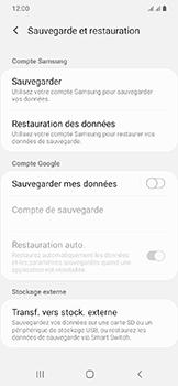 Samsung Galaxy A20e - Données - créer une sauvegarde avec votre compte - Étape 6
