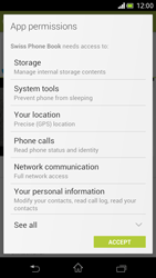 Sony Xperia V - Applications - Installing applications - Step 8