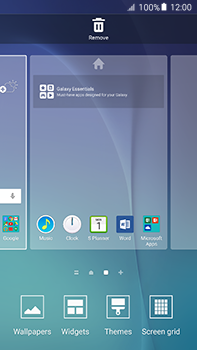 Samsung Galaxy A8 - Getting started - Installing widgets and applications on your start screen - Step 4