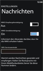 Nokia Lumia 610 - SMS - Manuelle Konfiguration - 5 / 7