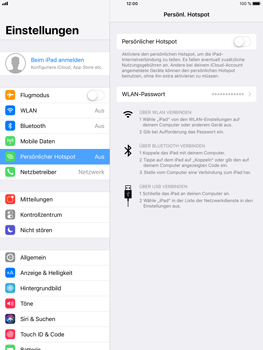 Apple iPad Air 2 - Internet - Mobilen WLAN-Hotspot einrichten - 1 / 1
