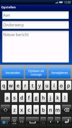 Sony Xperia X10 - E-mail - E-mails verzenden - Stap 5