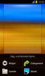 Samsung Galaxy S II - Operazioni iniziali - Installazione di widget e applicazioni nella schermata iniziale - Fase 3