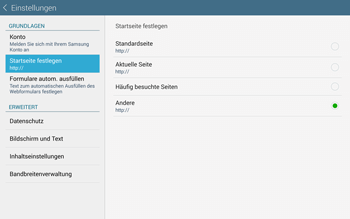Samsung T805 Galaxy Tab S - Internet und Datenroaming - Manuelle Konfiguration - Schritt 24