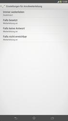 Sony Xperia Z Ultra LTE - Anrufe - Rufumleitungen setzen und löschen - Schritt 6