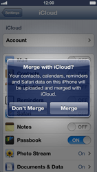 Apple iPhone 5 - Applications - Configuring the Apple iCloud Service - Step 6