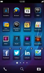BlackBerry Z10 - Startanleitung - Personalisieren der Startseite - Schritt 3