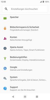 Sony Xperia XZ2 - Android Pie - Fehlerbehebung - Handy zurücksetzen - Schritt 6