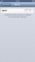Apple iPhone 5 - WiFi - Configurazione WiFi - Fase 4