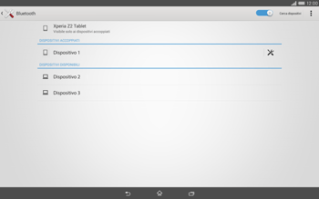 Sony Xperia Tablet Z2 LTE - Bluetooth - Collegamento dei dispositivi - Fase 8