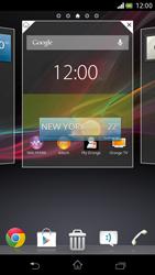 Sony Xperia V - Operazioni iniziali - Installazione di widget e applicazioni nella schermata iniziale - Fase 5