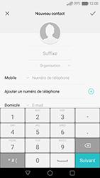 Huawei Nova - Contact, Appels, SMS/MMS - Ajouter un contact - Étape 7