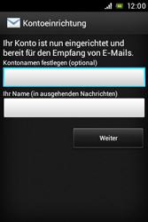 Sony Xperia Miro - E-Mail - Konto einrichten - Schritt 15