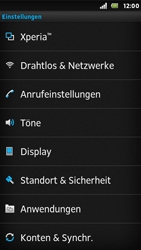 Sony Xperia U - WLAN - Manuelle Konfiguration - Schritt 4