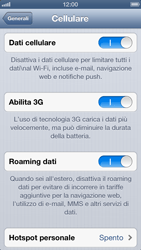 Apple iPhone 5 - Internet e roaming dati - Disattivazione del roaming dati - Fase 5