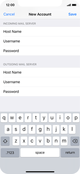 Apple iPhone X - E-mail - Manual configuration POP3 with SMTP verification - Step 15