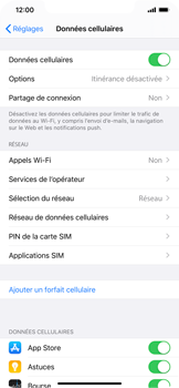 Apple iPhone XR - iOS 13 - Internet - activer ou désactiver - Étape 4
