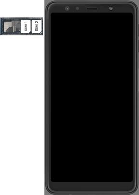 Samsung galaxy-a7-dual-sim-sm-a750fn-android-pie - Instellingen aanpassen - SIM-Kaart plaatsen - Stap 5