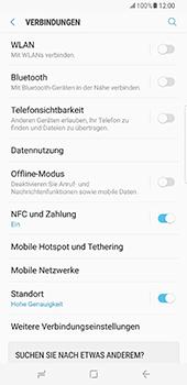 Samsung Galaxy S8 Plus - Internet und Datenroaming - Prüfen, ob Datenkonnektivität aktiviert ist - Schritt 5