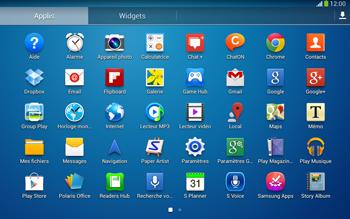 Samsung Galaxy Tab 3 10-1 LTE - Applications - Installation d
