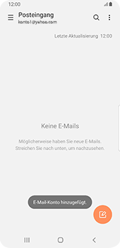 Samsung Galaxy S9 - Android Pie - E-Mail - 032b. Email wizard - Yahoo - Schritt 10