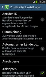 Samsung Galaxy Trend Plus - Anrufe - Rufumleitungen setzen und löschen - 7 / 12