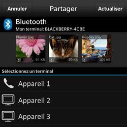 BlackBerry Q10 - Photos, vidéos, musique - Envoyer une photo via Bluetooth - Étape 10