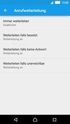 Sony Xperia M4 Aqua - Anrufe - Rufumleitungen setzen und löschen - 2 / 2
