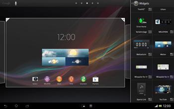 Sony Xperia Tablet Z LTE - Startanleitung - Installieren von Widgets und Apps auf der Startseite - Schritt 5