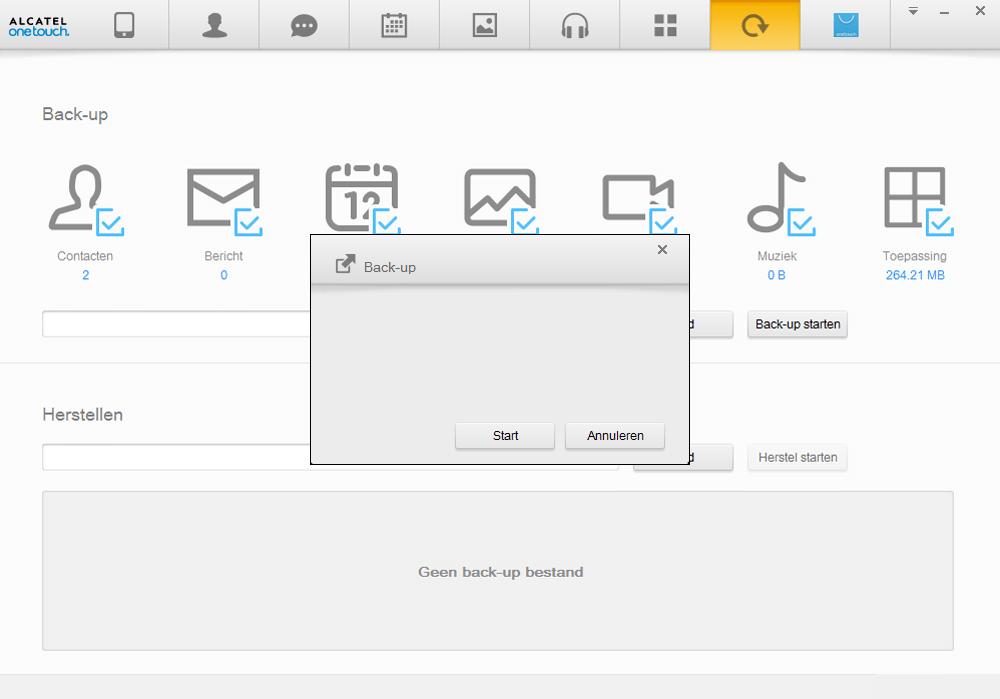 Alcatel Pixi 3 (8) - Software - Backup maken van je toestel - Stap 7
