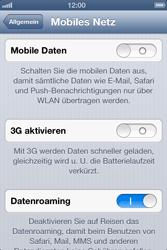 Apple iPhone 4S - Internet und Datenroaming - Deaktivieren von Datenroaming - Schritt 6