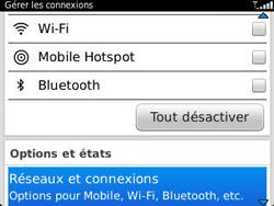 BlackBerry 9320 - Internet et connexion - Désactiver la connexion Internet - Étape 4