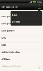 HTC One SV - Internet and data roaming - Manual configuration - Step 15