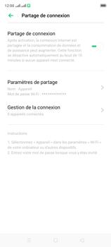 Oppo A9 2020 - Internet et connexion - Partager votre connexion en Wi-Fi - Étape 10