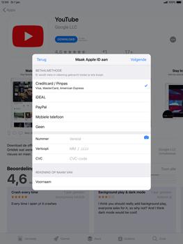 Apple ipad-air-10-5-inch-2019-model-a2123 - Applicaties - Account aanmaken - Stap 17