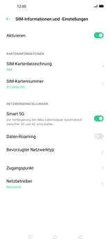 Oppo Find X2 Pro - Netzwerk - Manuelle Netzwerkwahl - Schritt 6