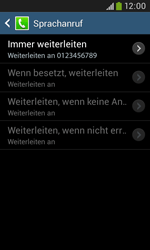 Samsung I9060 Galaxy Grand Neo - Anrufe - Rufumleitungen setzen und löschen - Schritt 11