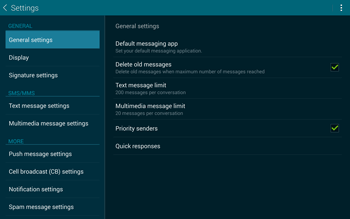 Samsung T805 Galaxy Tab S - SMS - Manual configuration - Step 6