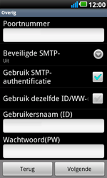 LG P990 Optimus 2X Speed - e-mail - handmatig instellen - stap 10