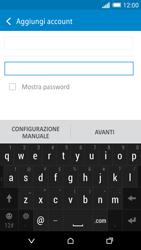 HTC One M8 - E-mail - configurazione manuale - Fase 7
