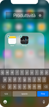 Apple iPhone X - Operazioni iniziali - Personalizzazione della schermata iniziale - Fase 6