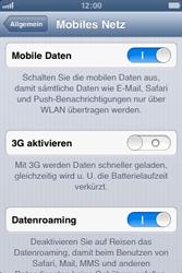 Apple iPhone 3GS - Internet und Datenroaming - Deaktivieren von Datenroaming - Schritt 5