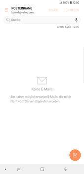 Samsung Galaxy S8 Plus - Android Oreo - E-Mail - 032b. Email wizard - Yahoo - Schritt 9