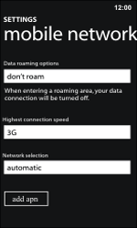 Nokia Lumia 800 / Lumia 900 - Internet and data roaming - Manual configuration - Step 8