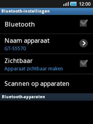 Samsung S5570 Galaxy Mini - Bluetooth - Headset, carkit verbinding - Stap 6