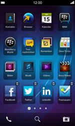 BlackBerry Z10 - Startanleitung - Personalisieren der Startseite - Schritt 10