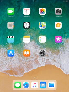Apple iPad Air iOS 11 - Risoluzione del problema - Display - Fase 1